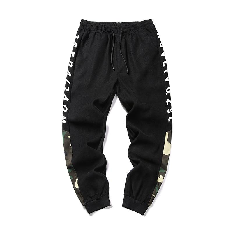 Мужские брюки, летние камуфляжные Свободные повседневные штаны с буквенным принтом, Мужские штаны для бега, удобные спортивные брюки в стил...