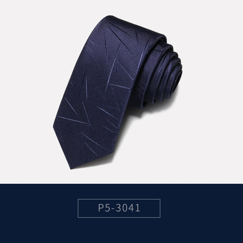 2019 Brand New High Quality Men's 5CM Slim Navy Blue Irregular Pattern Neck tie Work Formal Suit Neck Tie for Men with Gift Box