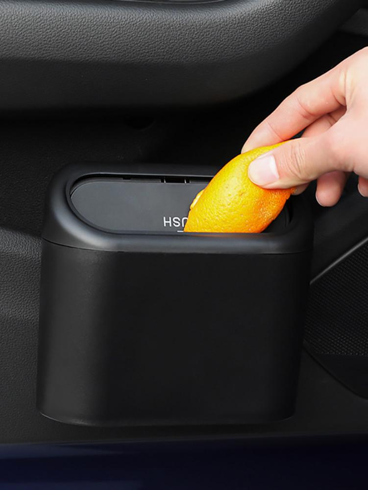 Car Trash Can Auto Garbage Dust Case Car Hanging Vehicle Rubbish Box Organizer Storage Door Seat Bac
