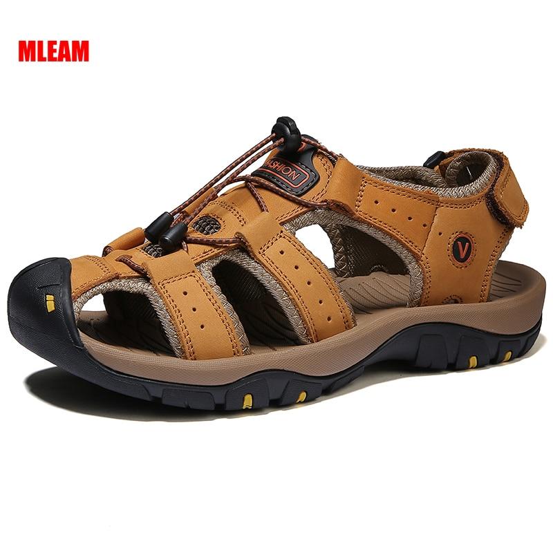 Fashion Summer Men's Sneakers Pu Light Men's Sandals Outdoor Non-slip Men Flip Flop Men's Shoes Zapatos De Hombre Big Size 38-48