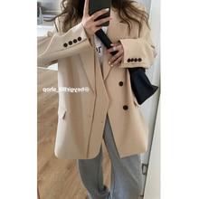 Overcoat Women Suit In Autumn Loose Design Sense Of Minority Suit Coat Fashion