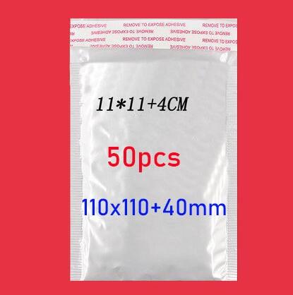 50 stücke/(11*11cm + 4cm) weiß Blase Umschlag Blase Film Tasche Perle Film Umschlag Schock Tasche