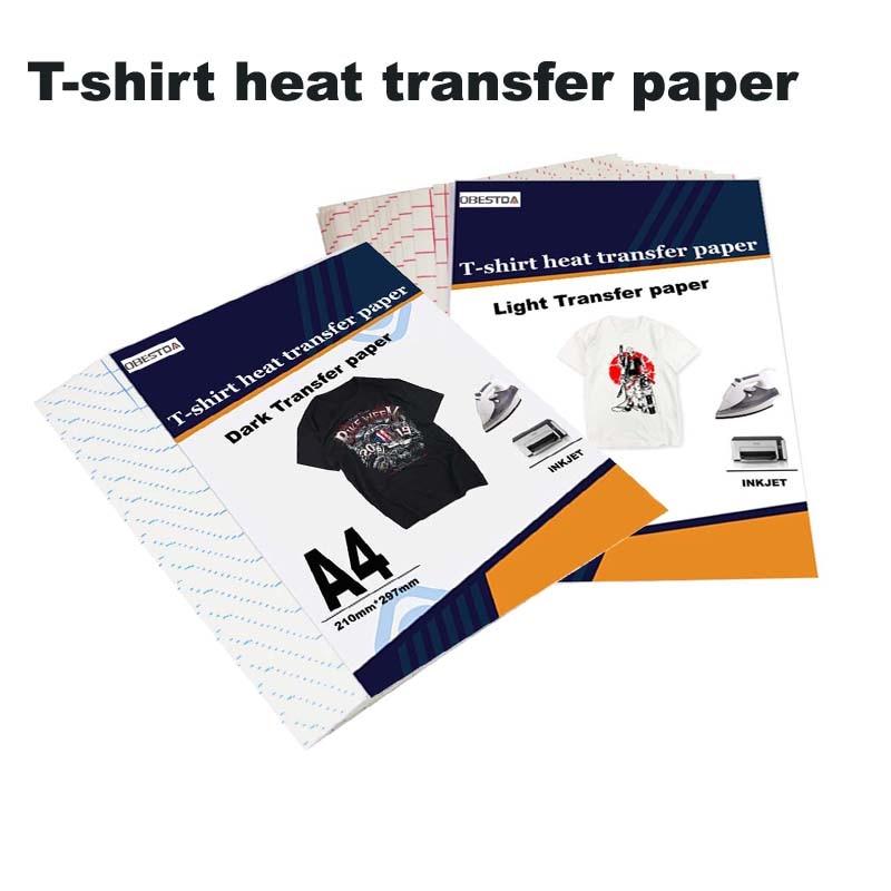 Бумага для струйной печати, сублимационной печати на футболках, светло-темно-черная ткань, переводная бумага для хлопковой одежды, термобум...