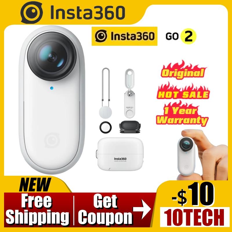 Insta360 GO 2 – Mini caméra de Sport Anti-secouement, Portable et étanche, 4K, adaptée aux VLOG YouTube comme Gopro