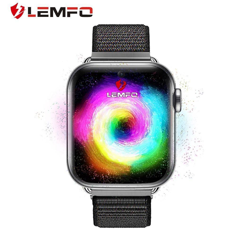 LEMFO LEM10 4 جرام ساعة ذكية الرجال الهاتف أندرويد 7.1 3 جيجابايت + 32 جيجابايت دعم GPS/WiFi/بطاقة SIM/مراقب معدل ضربات القلب كاميرا Smartwatch