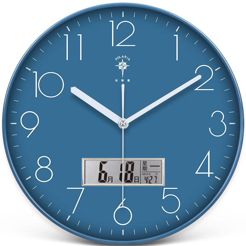 Simple Nordic Luxury Wall Clock Modern Design Creative Small Wall Clock Silent Calendar Zegar Scienny Home Decoration EI50WC