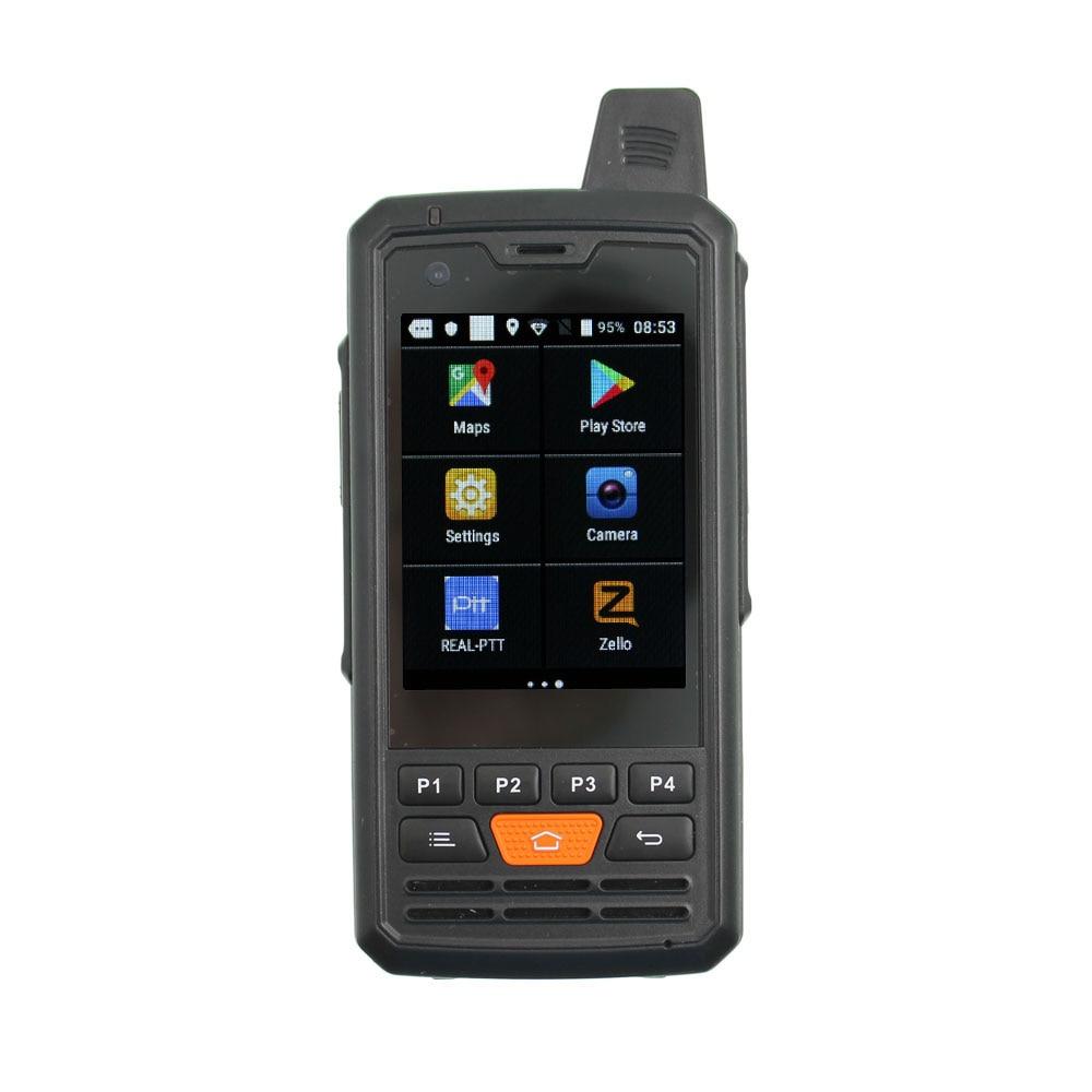 Rádio com Realptt Zello Rádio Grande Cor Display Smartphone 4g-p3 Poc Walkie Talkie Telefone T28 F50 4g
