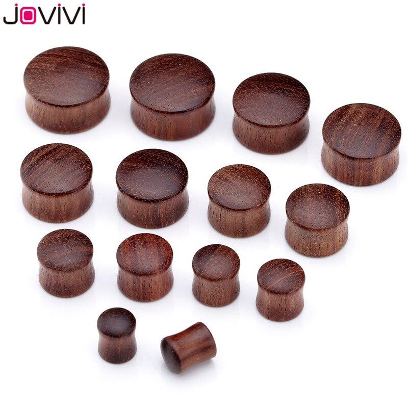 JOVIVI, dilatadores de oreja, dilatadores de oreja, expansor de madera Sono para hombres y mujeres, Piercing de oreja, túneles para el cuerpo, calibre 8-20mm