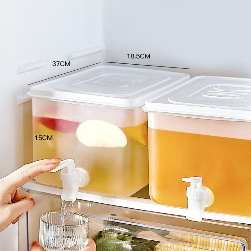 5L Cold Kettle With Faucet Refrigerator Fruit Teapot Summer Household Lemonade Bottle Large Capacity