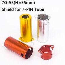 10Pcs Volledige Aluminium Buis Socket Afscherming Cover Voor 6Z4 6AU4 EF94 6BH6 6A2 6K4 6J5 7-Pin Vacuüm buis Schild Versterker Vintage