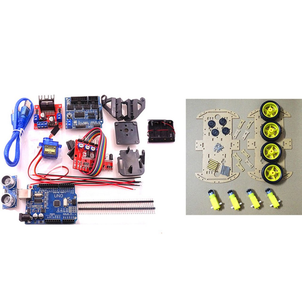 Evitar inteligente rastreamento robô motor kit chassi do carro caixa de bateria 2wd módulo velocidade codificador para arduino kit