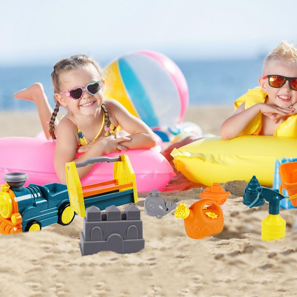 Детские пляжные игрушки, детский летний песочный инструмент для копания с лопатой, водная игра, набор уличных игрушек, песочный ящик для дет...