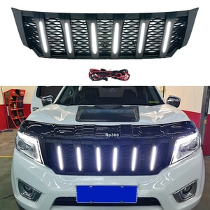 Modified For NP300 Bumper Grille For Navara NP300 D23 2015 2016 2017 2018 2019 Auto Grille Racing Grills Front Bumper Mesh Cover
