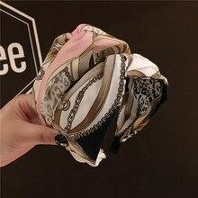 Corea catena stampa fiore croce cravatta fasce per capelli accessori per capelli per ragazze fascia per capelli fiocchi per capelli fasce per capelli per donna
