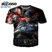 Anime 3d print t shirt Men Women Avengers fashion t-shirt Captain America rock kid Harajuku tees Funny shirts homme tshirt A56