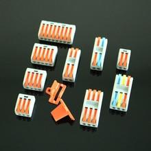 2 teile/los PCT212/213/214/215/218 222-412/413/414/415/418 Mini Schnelle kompakte Verdrahtung Leiter Draht Stecker Terminal Block