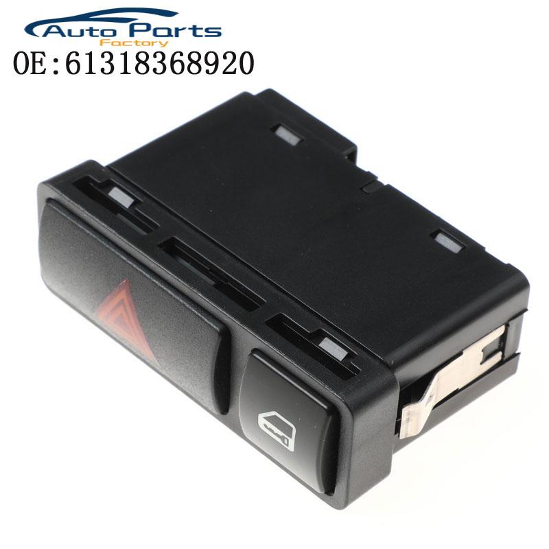 Interruptor de luz de Flash de emergencia botón pulsador Warnng Luz de peligro interruptor de bloqueo On/Off para BMW Serie 3 E46 Venta caliente 61318368920