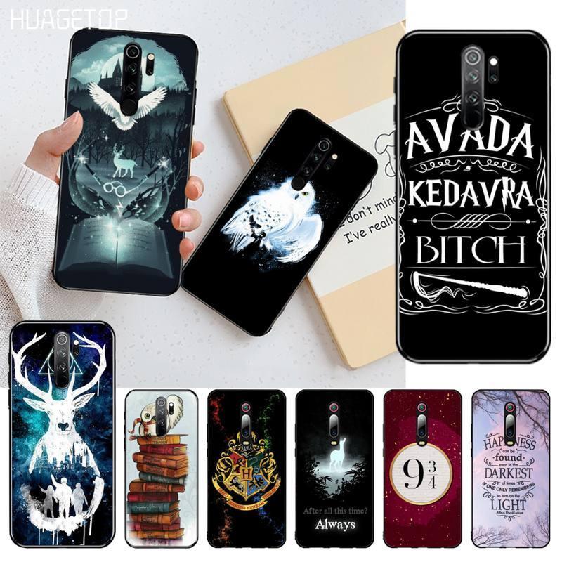HUAGETOP Harries Potter película de dibujos animados diseño suave teléfono caso Capa para Redmi Nota 9 8T 8A 7 6 6A Go Pro Max Redmi 9 K20 K30 Pro