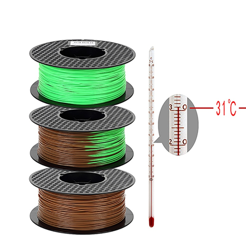 3D Printer Filament PLA Change Color with Temperature 3D Printing Sublimation Material 1.75mm 1kg/500g/250g Purple to Pink enlarge