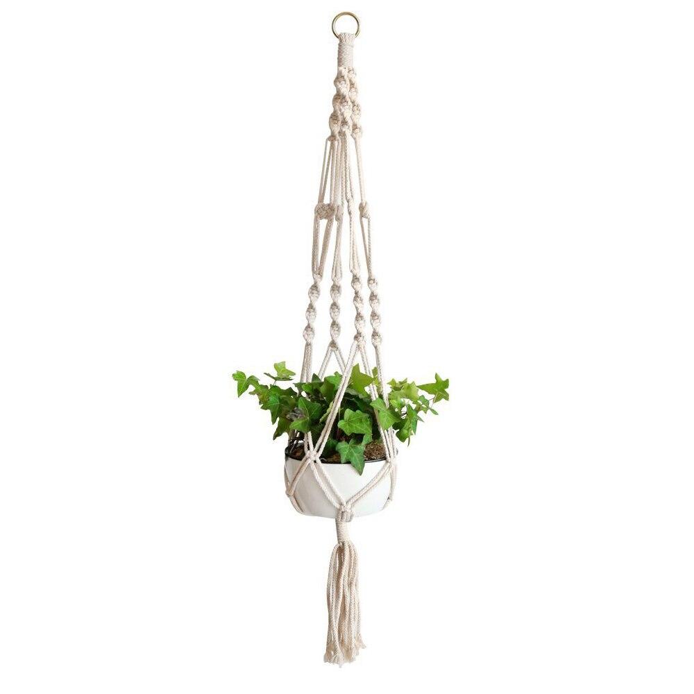 Cestas colgantes hechas a mano para macramé, soporte de macramé para planta,...
