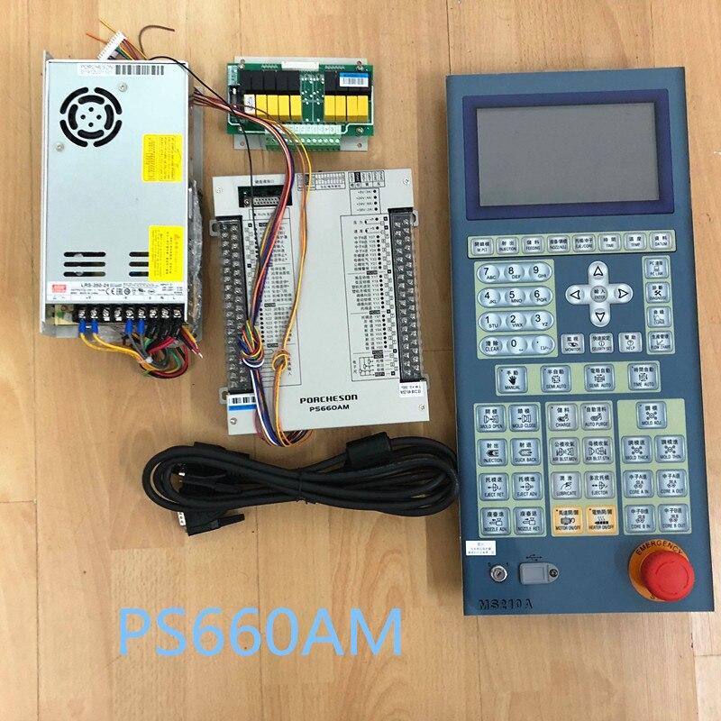 Controlador para Máquina de Moldagem por Injeção Ps660am com 7 Ps660am + Kc118 Novo Original Porcheson Controlador Plc Tft Painel Exibição &