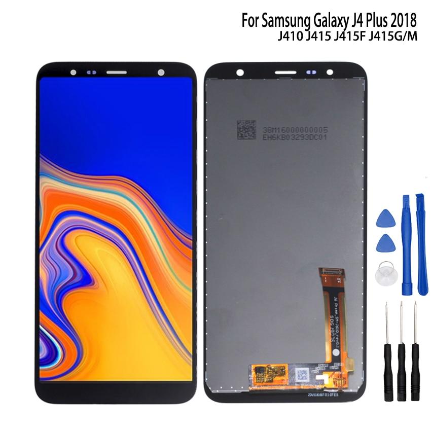 Pantalla LCD Original para Samsung Galaxy J4 Plus 2018, J415, pantalla LCD para Samsung J415F, J415FN, J415G, ensamblaje de digitalizador táctil de pantalla LCD