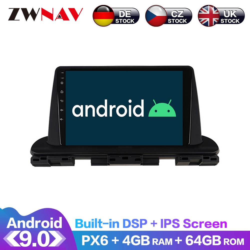 Android 9.0 4+64G PX6 DSP Carplay Radio Car No DVD Player GPS navigation For Kia Seltos 2016-2020 Head Unit Multimedia