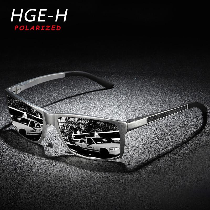 HGR-H אלומיניום מגנזיום מקוטב משקפי שמש גברים באיכות גבוהה אביב ציר כיכר שמש משקפיים זכר קל Gafas KD173