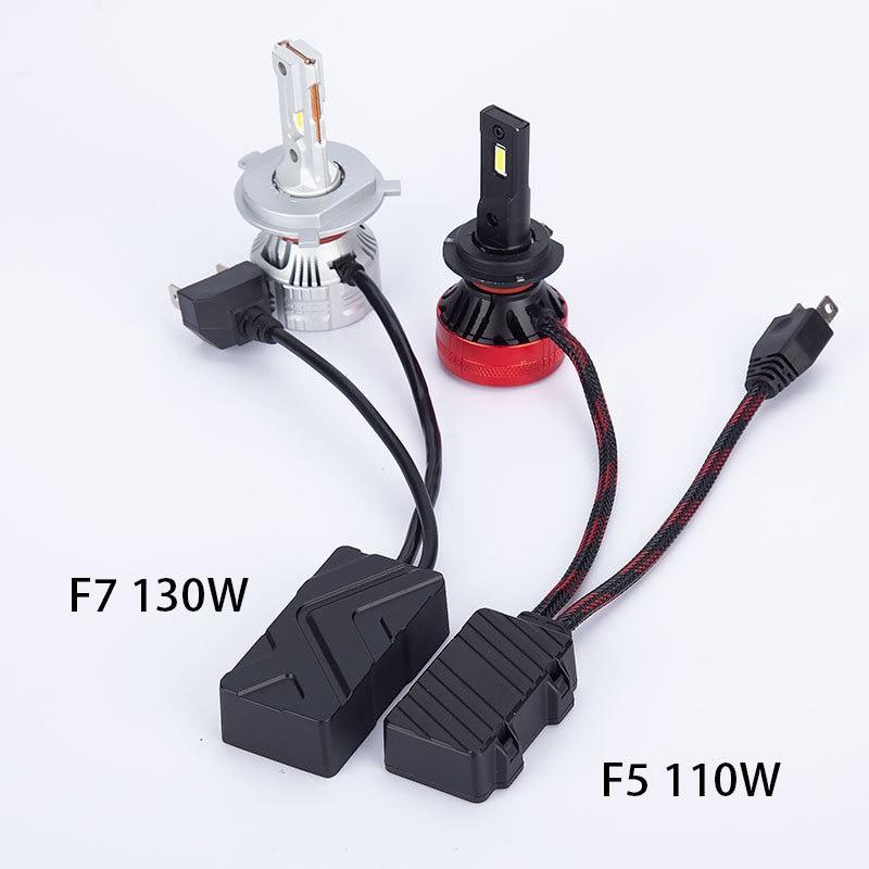 130W H7 H4 Canbus Led Lamp High Power Led Headlight Bulb H7 H4 H8 H11 9005 Hb3 Hb4 6500K Turbo Led Lamp For Car 2PCS enlarge