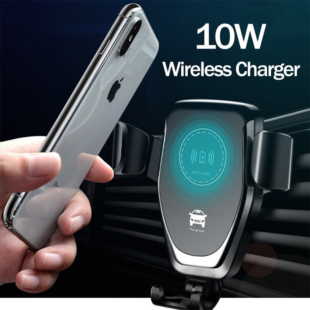 10W Wireless Fast Car Charger Air Vent Mount Phone Holder For iPhone XS Max Samsung S9 Xiaomi MIX 2S