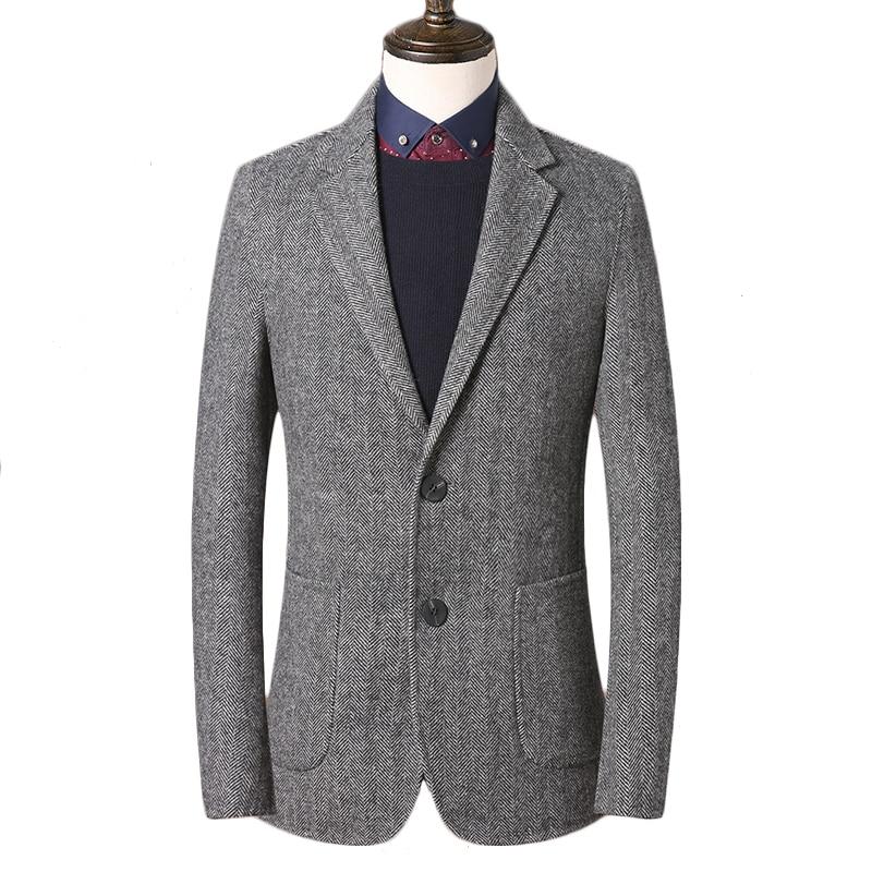 Casaco de tweed feito sob encomenda do tweed dos homens, casaco feito sob medida do tweed dos homens casacos de espinha de peixe, blazer masculino,