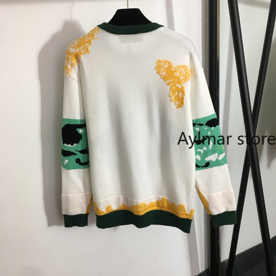 High quality  autumn winter new temperament women's cat pattern lovely versatile round neck long sleeve Pullover knitted sweater enlarge