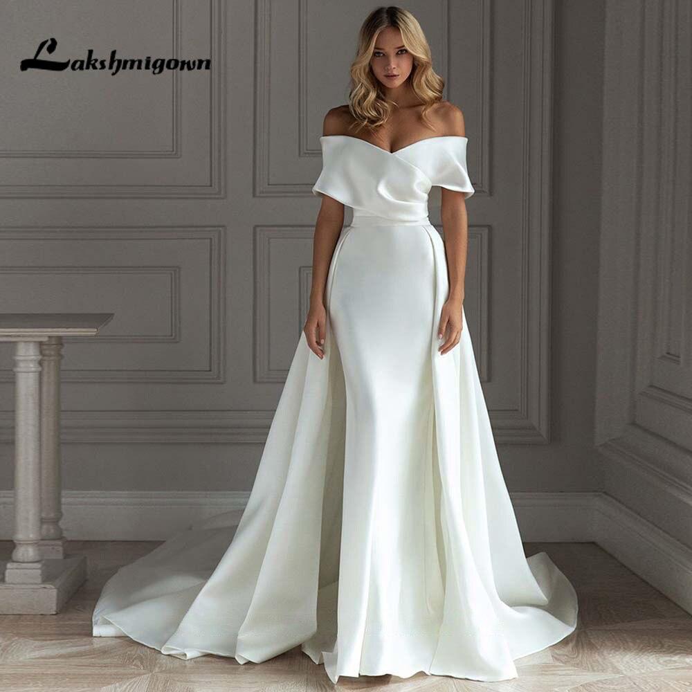 Vestido de Boda elegante con tren desmontable, vestido de novia de princesa...