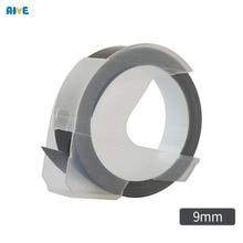 Aive 1pcs 9MM Dymo 3D Plastic Embossing Tape for Embossing Label Maker PVC LABEL  Tapes DYMO 1610 12965 1880 1540 Motex E101