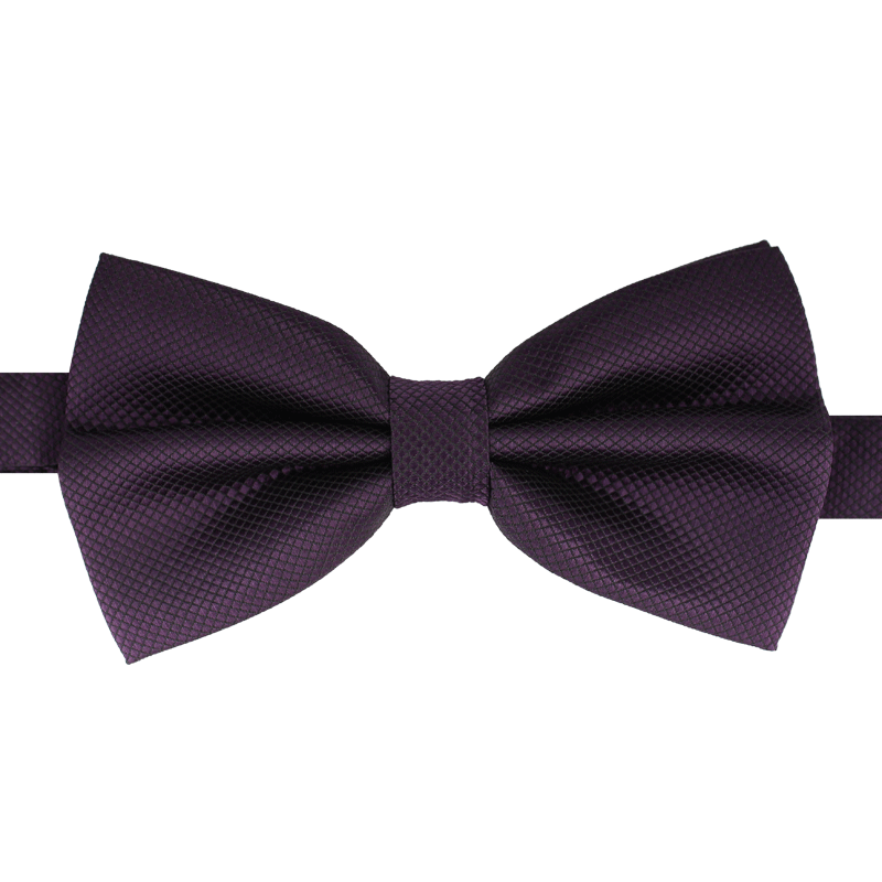 2019 New Fashion Men's Bow Ties for Wedding Double Fabric Dark Purple Bowtie Club Banquet Butterfly Tie with Gift Box