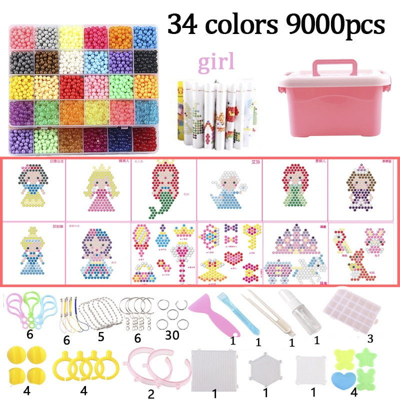 A set of magic beads including a variety of accessories