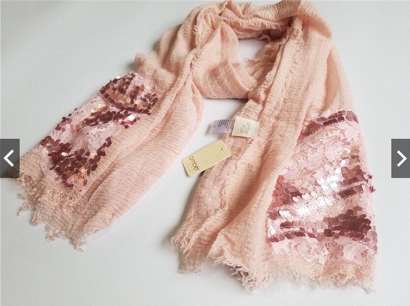 2021 Newest Women Fashion Scarf Shawls Wraps Hijabs Sequins Scarf