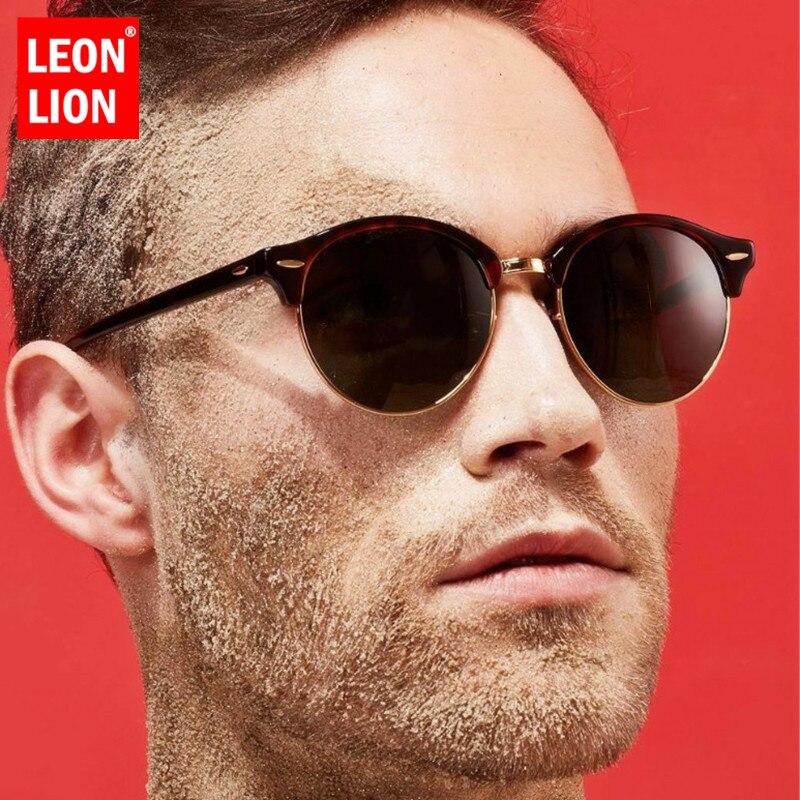 LeonLion 2020 Round Sunglasses Men Alloy Glasses for Men/Women Brand Designer Sunglasses Women Vintage Lunette Soleil Homme