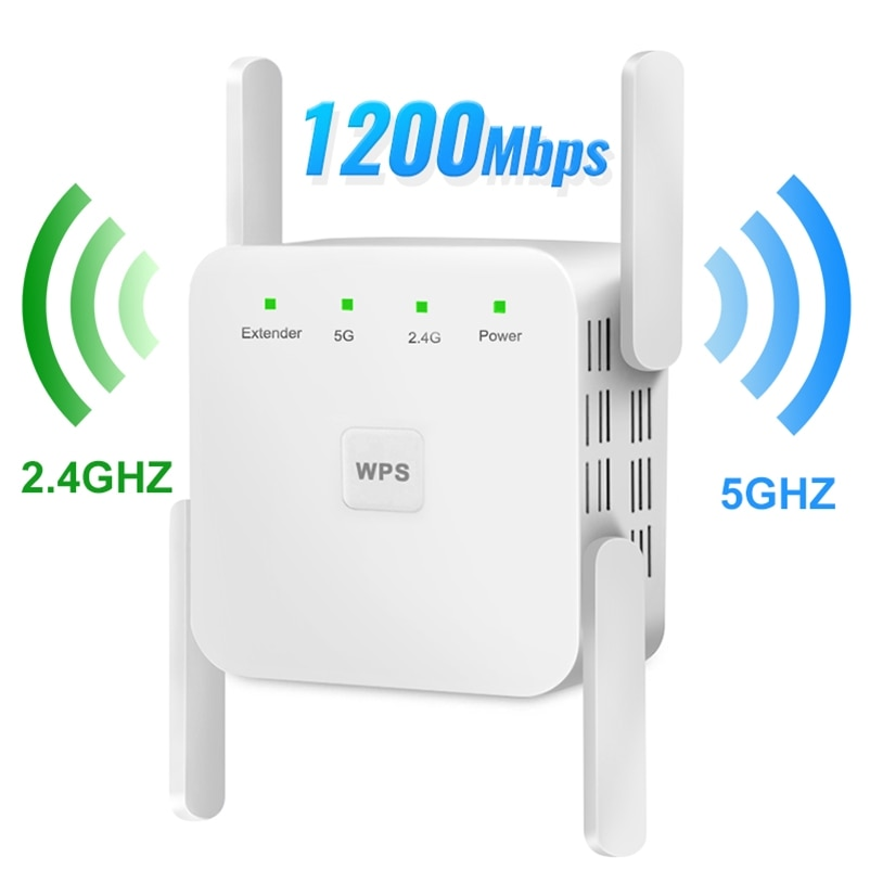 5Ghz Wireless WiFi Repeater 1200Mbps Router Wifi Booster 2.4G Wifi Long Range Extender 5G Wi-Fi Signal Amplifier Repeater Wifi