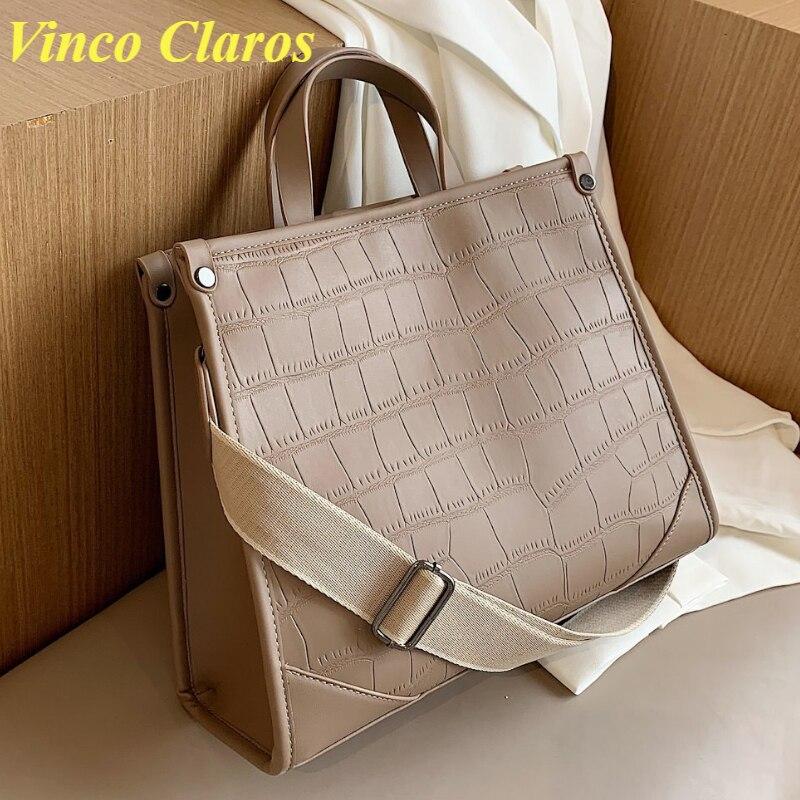 Stone Pattern Handbags Women Large Shoulder Messenger Bag Sac A Main Fashion Women's Bag Wide Should