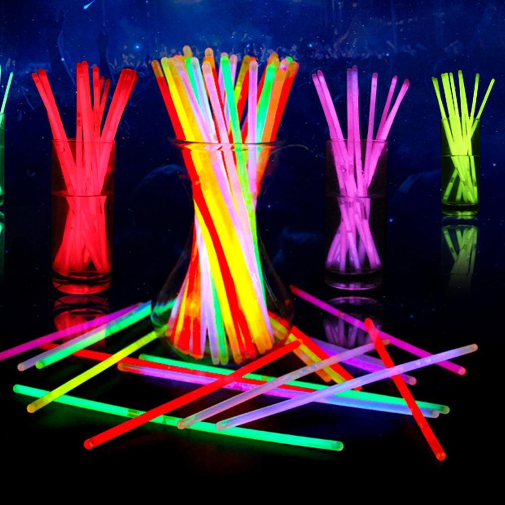 100 Pcs Glow Sticks Light toys Fluorescence Light Bracelets Necklaces Neon Bright Colorful flash Glow Sticks Party Supplies Toy