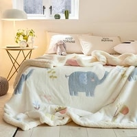 winter warm bedroom soft cozy blankets beds fluffy thick flannel printed throw blankets quilt plaid couverture bed cover bc50mt