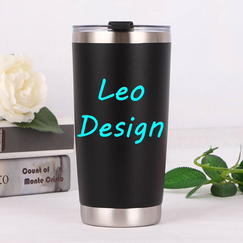 20oz 30oz Leo Design Double wall stainless steel mug cup water bottle car cup print logo mug