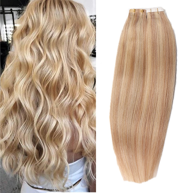 alishow tape in remy human hair extensions double drawn hair straight invisible skin weft pu tape on hair extensions Rusaian Remy Human Hair Tape in Extensions 20 40pcs Glue in Skin Weft Tape Invisible Seamless Human Hair Extensions