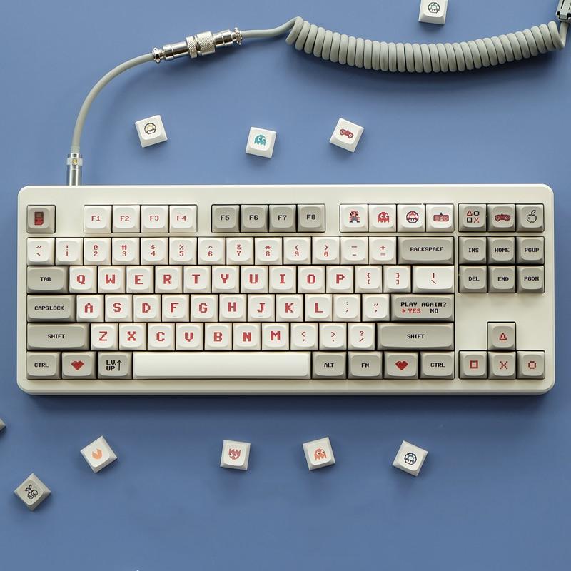 1 مجموعة Gameboy الطفولة الكلاسيكية الرجعية لعبة مفتاح غطاء ل MX التبديل الميكانيكية لوحة المفاتيح XDA الكرز الشخصي كيكابس ل FC