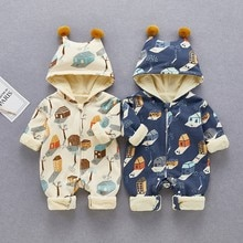 Baby Jumpsuit in Spring, Summer and Autumn of 2021, New Long-sleeved Cotton-padded Clothes for Boys