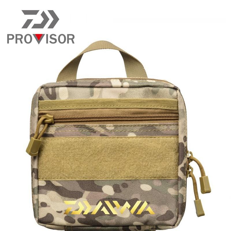 Bolsa de pesca Daiwa, bolsa de cintura multifuncional para exteriores, bolsa de mensajero portátil con señuelo, bolsa de paquete con poste, bolsa de aparejos de pesca