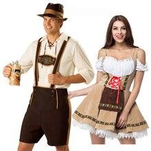 Disfraz de Oktoberfest para parejas tradicionales, traje de camarera, barman, Tavern, Cosplay, Carnaval, Halloween, elegante para fiesta