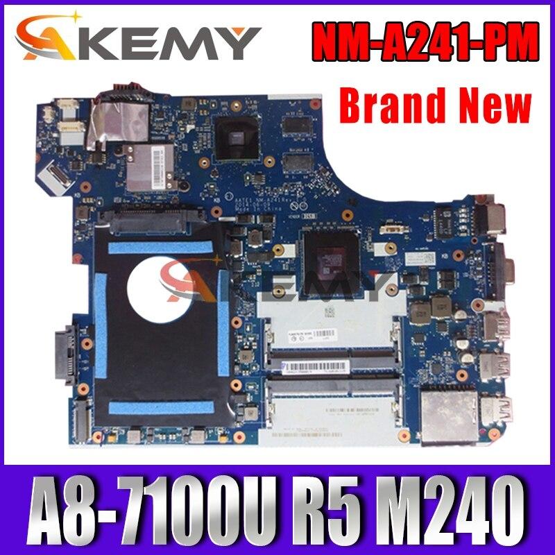 Akemy For Lenovo ThinkPad E555 NM-A241 mainboard A8-7100U CPU R5 M240 GPU NM-A241 E555 Laotop Motherboard