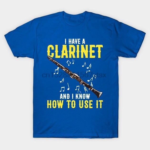 Camisa masculina clarinete banda músico citações engraçadas frases de humor presente clarinete t camisa impressa t-shirts topo